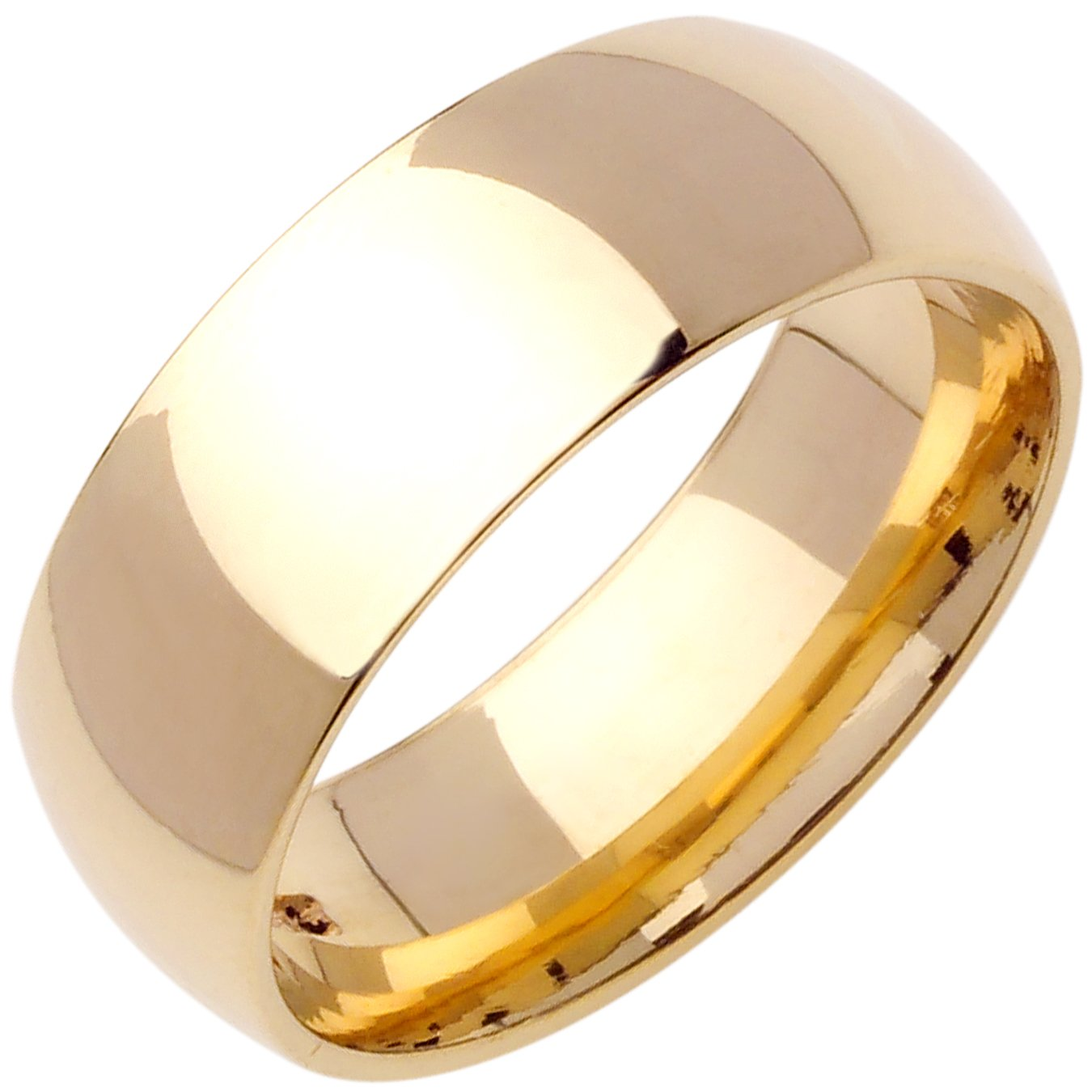 14K Gold Traditional Classic Women's Comfort Fit Wedding Band (10mm) Size-4.5c1