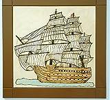 Old Ship, Nautical Wall Decor, Wood Wall Art, Pyrography Art