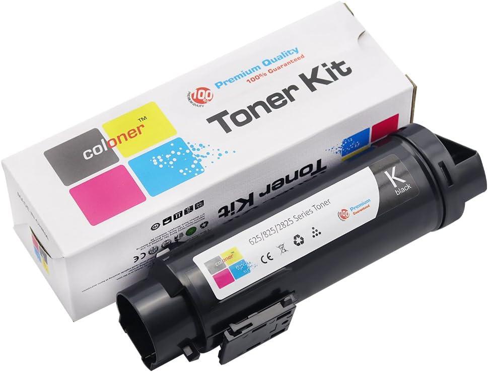 3,000 Pages Coloner(TM) Compatible Dell Hicap H625 / H825 / S2825 Toner Cartridges (2825: Black)