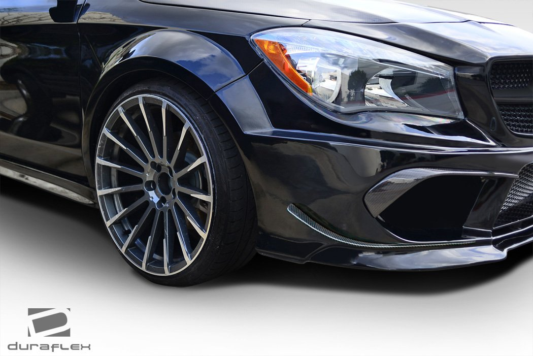 Duraflex Replacement for 2014-2015 Mercedes CLA Class Black Series Look Wide Body Front Fenders - 2 Piece by Duraflex (Image #2)