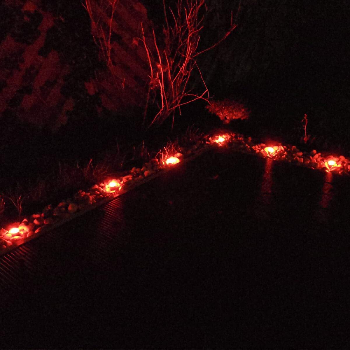 RGB+W Lampada da giardino 1W 12V AC IP68 Komplettset 3 St/ück