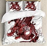 wanxinfu Dragon 4 Piece Bedding Set King