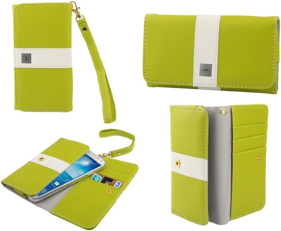 DFV mobile - Cover Premium with Color Line Design with Card Case for XIAOMI MI4C, MI 4C - Pistachio
