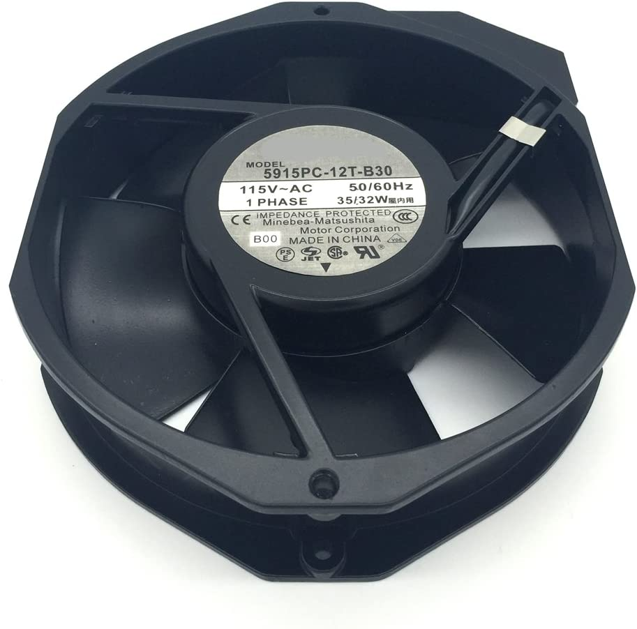5915PC-12T-B30-A00 Fan 115V 50//60Hz 35//32W 150X172X38 3200RPM