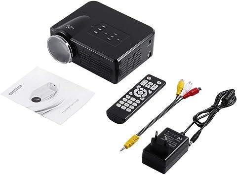 MXECO Mini LED Proyector de video TV portátil DVD Proyectores de juegos LCD HD Video 3D Cine en casa Educación HDMI VGA AV USB Beamer BL-35 (Negro (enchufe de la UE)): Amazon.es: