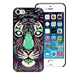 Roodfox Aztec Animal Tiger Hard Back Plastic Case Cover Skin For iphone 5 5G 5S