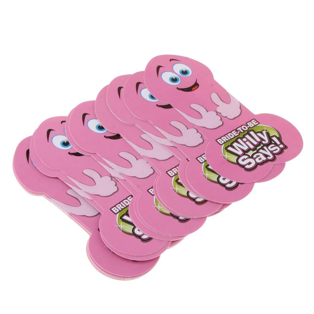 SM SunniMix Willy Spielkarten Party Supplies, Spaß für Erwachsene