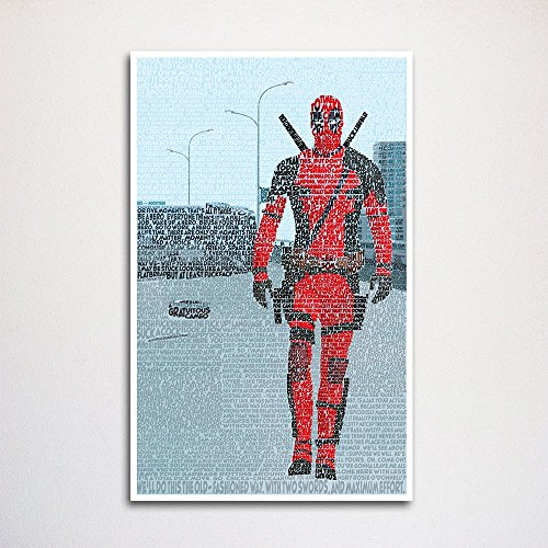 Deadpool word art print 11x17