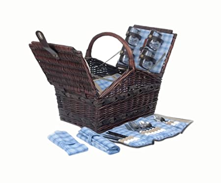 Willow Picnic Basket in Brown