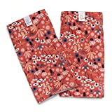 Little Goat Organic Cotton Teething Pads (Pink Wildflowers)