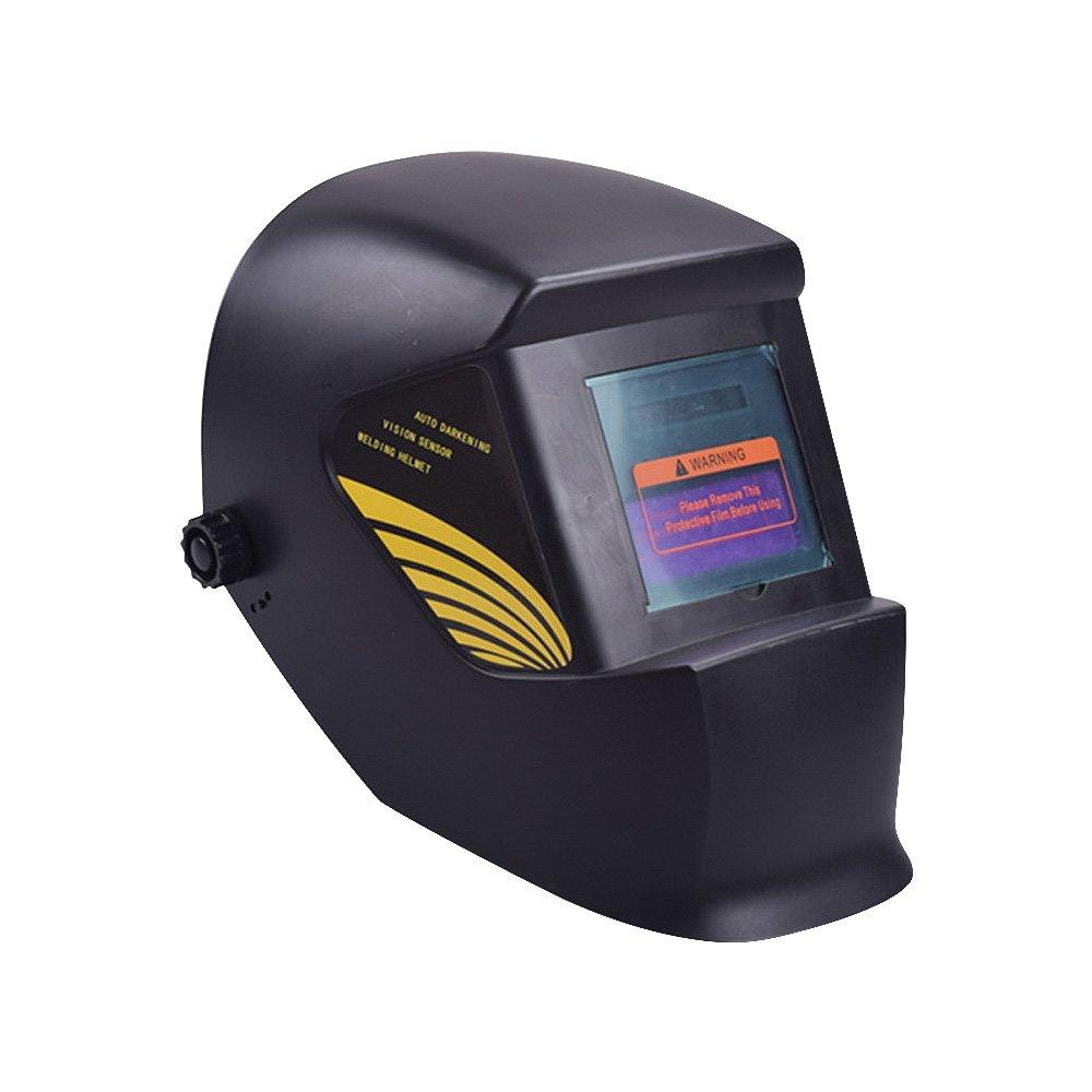 Nuzamas Solar Powered Auto Darkening Welding Helmet Mask Weld Black Face Protection for Arc Tig Mig Grinding Plasma Cutting with Adjustable Shade Range DIN4/9-13 UV/IV protection DIN16
