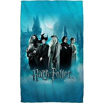 Harry Potter Hogwarts maestros baño blanco toalla de baño 27 x 52