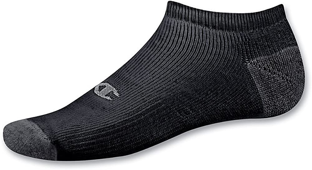 Champion Double Dry Performance No-Show Socks (CH608) Black, 10-13