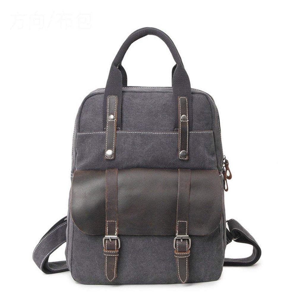 e89f2f51b9 Sacs à dos pour ordinateur portable Couleur : Vert Wenzhihua Bureau  Britannique Style Rétro Sac à Dos ...