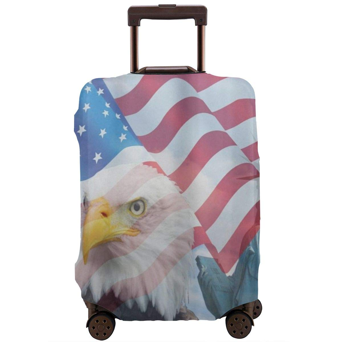 Luggage Cover Status Of Liberty Eagle American Flag Protective Travel Trunk Case Elastic Luggage Suitcase Protector Cover
