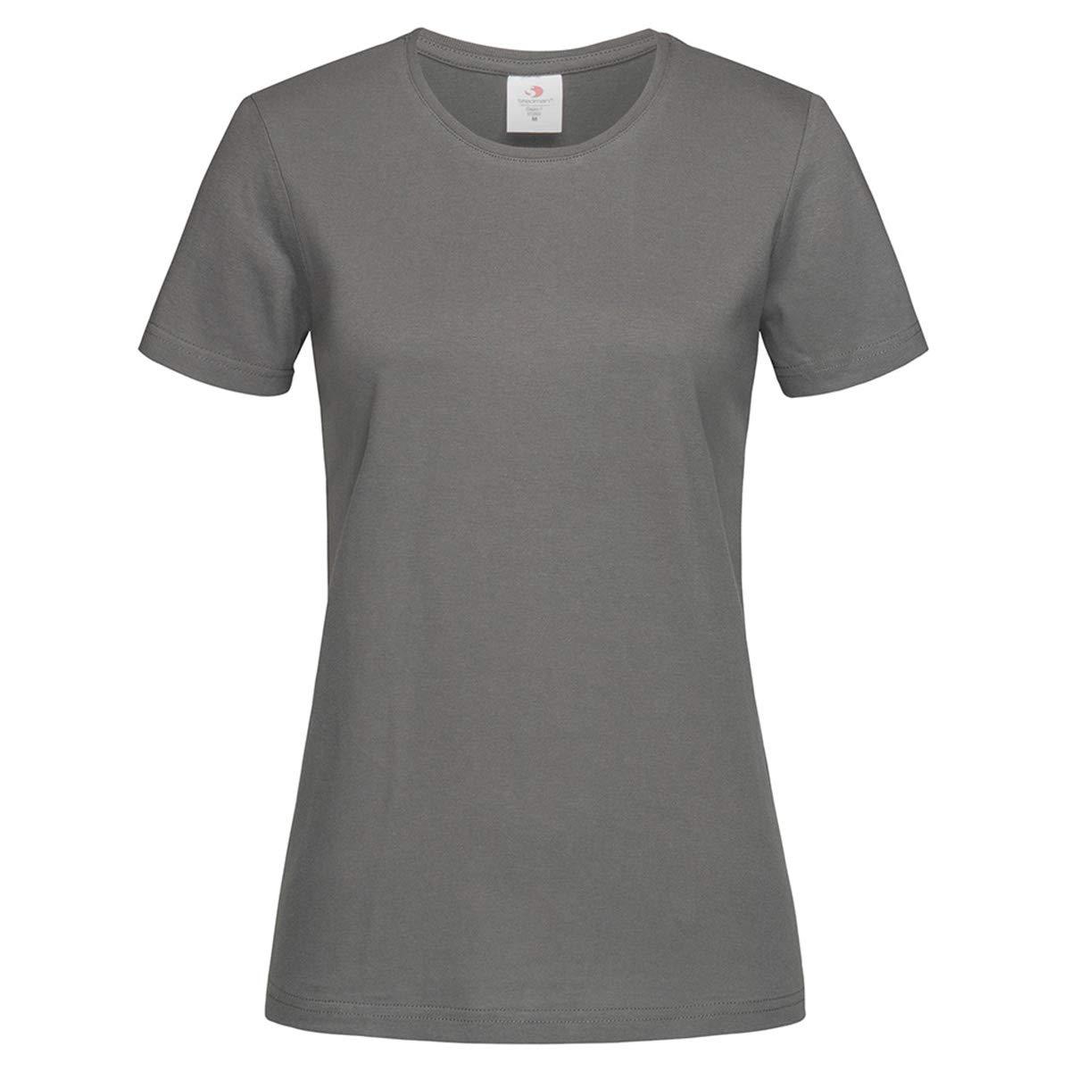 T-Shirt Maniche Corte Donna Maglietta da Lavoro Cotone Stedman Classic ST2600