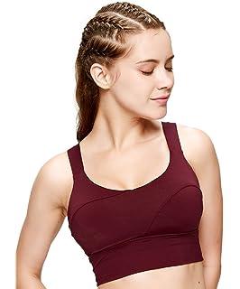 08863ed7b50 light   leaf Womens Racerback Sports Bra High Impact Support Adjustable  Straps Yoga Bras