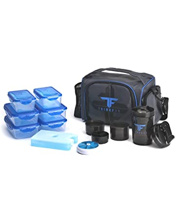 ce85ff705b2 ThinkFit Insulated Lunch Boxes with 6 Portion Control Containers, Reusable  Ice Pack, Pill Box