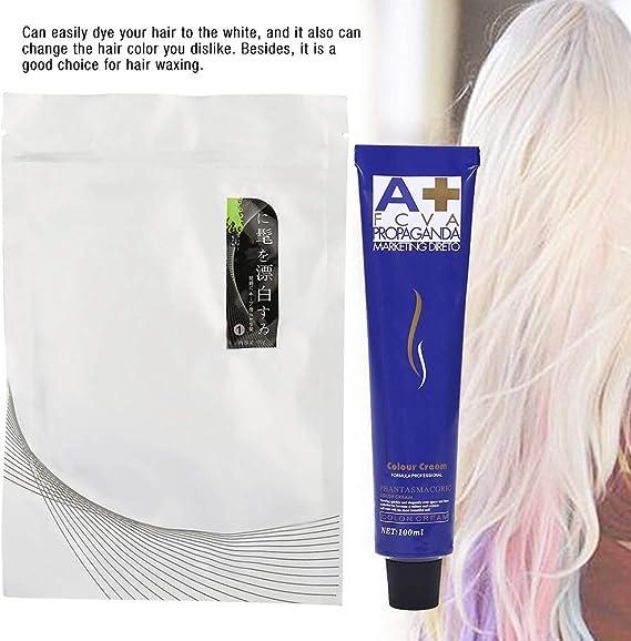 Crema para decolorar el cabello, Crema para blanquear el cabello Crema para teñir el cabello Blanqueador en polvo para peluquería con leche de ...