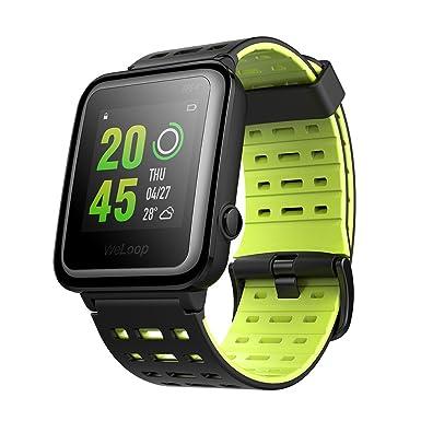 Reloj inteligente deportivo con Bluetooth, impermeable, correa de silicona, pantalla táctil, control del ritmo cardíaco, ...