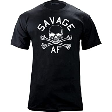76e139e4fc47 Amazon.com  USAMM Original Savage AF T-Shirt  Clothing