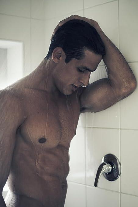 Hot men showering together