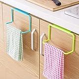 QRSLHYA Door Tea Towel Rack Bar Hanging Holder Rail Organizer Bathroom Cabinet Cupboard Hanger Kitchen Accessories