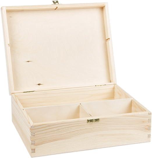 Grandes regalo de madera con 3 compartimentos caja de ...