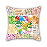PILLO Throw Pillow Covers Of Flower 16 X 16 Inches / 40 By 40 Cm,best Fit For Deck Chair,bedroom,monther,wife,her,play Room Double Sides