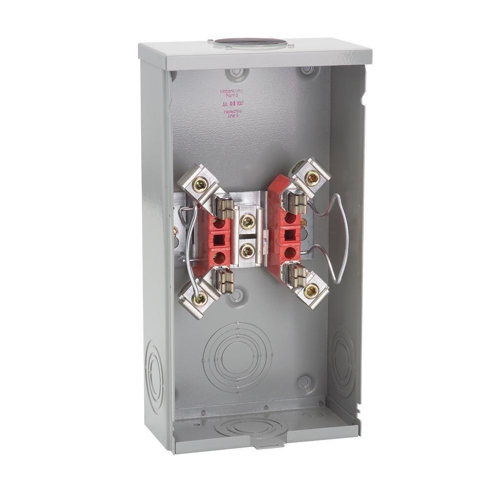 Milbank 200-Amp 4 Terminal Ringless Overhead Meter Socket