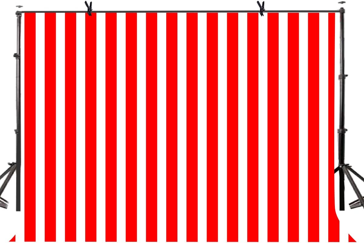 Amazon Com Lylycty 7x5 Birthady Backdrop Movie Theater Themed Party Decorations Hollywood Big Top Circus Theme Party Supplies Banner Red And White Striped Background Lyzy0503 Camera Photo