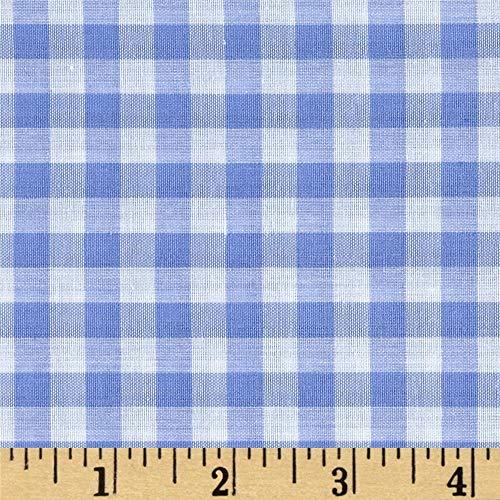 Blue Gingham Fabric (Richland Textiles Richcheck 60in Gingham Check 1/4in Blue Fabric By The)