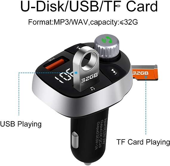 Aigoss Bluetooth Fm Transmitter Freisprecheinrichtung Elektronik