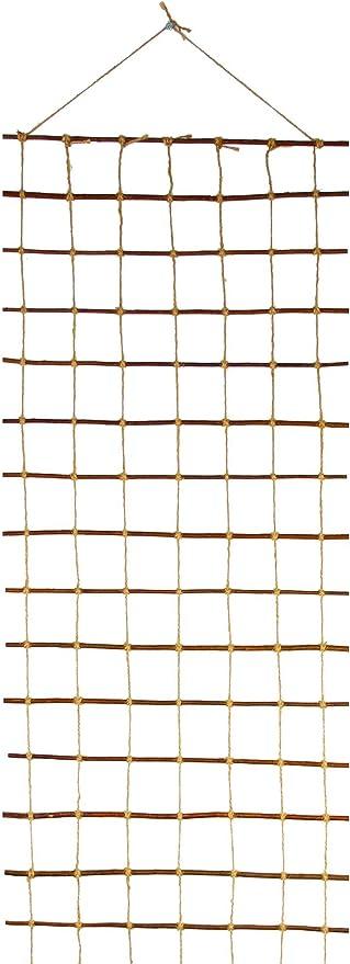 Floranica® Pérgola, Enrejado de Sauce impregnada y Cuerda de Yute, útil para hortalizas y Animales, Largo: 200cm, Ancho:30 cm: Amazon.es: Jardín