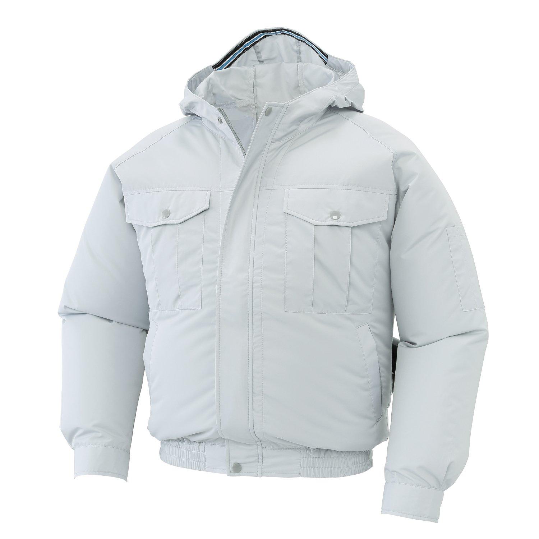 空調服 服のみ フード付き長袖ブルゾン サンエス 空調風神服 KU90810 B06VSJ7NMK 6(シルバー) M