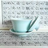 Gaiwan Kung Fu Teacups with Lid 5-Ounce Porcelain