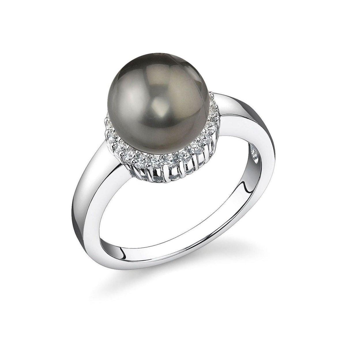 8mm Tahitian South Sea Cultured Pearl Ashley Ring