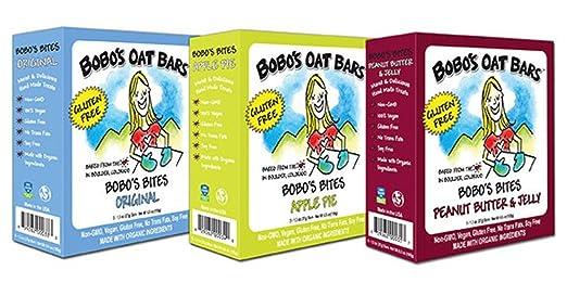 Barras de avena Bobos sin gluten, paquete de variedad de 3 ...