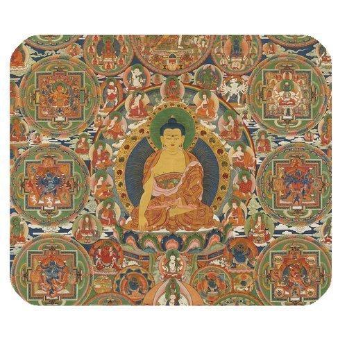 Generic Personalized Retro Style Buddha Tibetan Pattern for Rectangle Mouse - Mouse Pad Buddha
