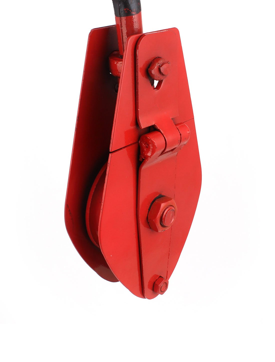 310mm Length 1T Single Ring Lifting 10mm Rope Crane Pulley Block