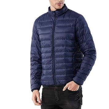 TWBB Daunenjacke,Herren Einfarbig Winter Warme Mantel