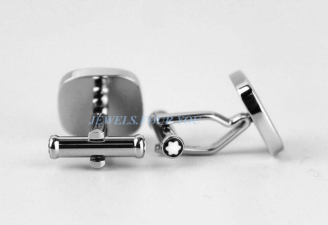 MONTBLANC St. Steel Cufflinks Stripe Mother of Pearl New NO Box Germany 109512 512wRvz-TYLUL1184_