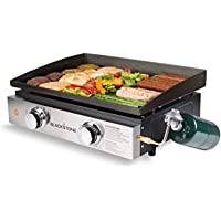 Blackstone 1666 Tabletop Griddle with Stainless Steel Front Plate - 22""
