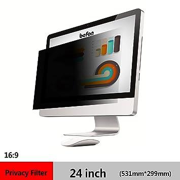 befon Premium - Filtro de privacidad y Protector de Pantalla para Ordenador portátil 531x298mm (24