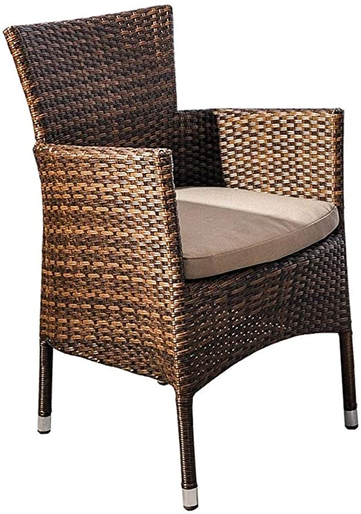 QQXX Mesa y sillas de ratán Simple, jardín del Patio Sillón Informal de cafetería al Aire Libre, tamaño de la Silla: 60x60x85cm Muebles para el hogar (tamaño: 60x60x85cm): Amazon.es: Hogar