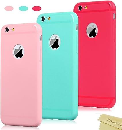3x Cover iPhone 6, iPhone 6s Custodia Silicone Satinate Opaco Ultra Sottile - Mavis's Diary Case Gomma Antiscivolo Satinata TPU Morbido Protettiva ...