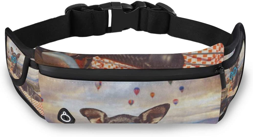 Travel Waist Pack,travel Pocket With Adjustable Belt Little Chihuahua Easter Basket Running Lumbar Pack For Travel Outdoor Sports Walking