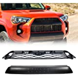 DOOd Front Replacement Grille,For 4Runner TRD PRO Style Grill 2014-2019 With Grey Letters,Matte Black