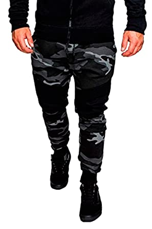 HX fashion Pantalones De Chándal De Hombre Camo Bodybuilding ...