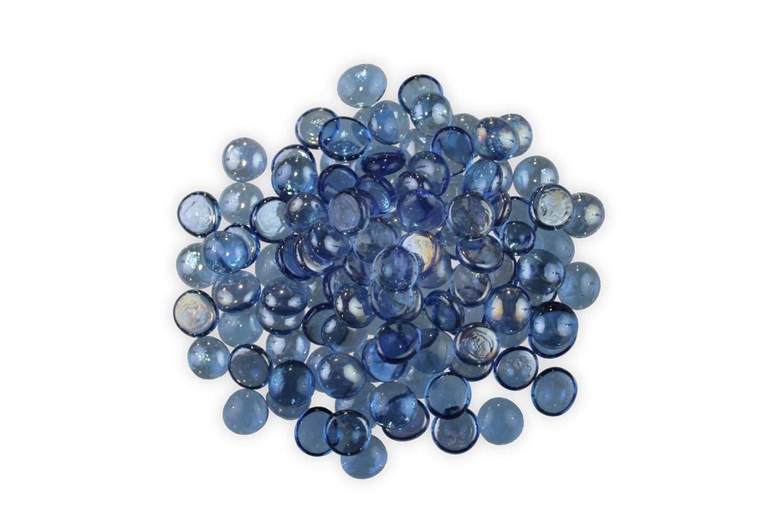 Firegear Fire Glass Beads (GB-LT-Blue), 16mm to 18mm, Light Blue, 5 pounds